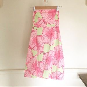 Lilly Pulitzer strapless dress floral size 6